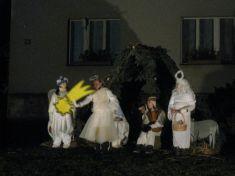 živý Betlém arozsvícení vánočního stromu 1.12.2013