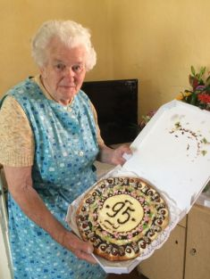 Nejstarší občanka paní Růžena Lišková oslavila 8.května 95.narozeniny